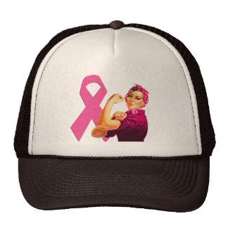 Breast Cancer Awareness Rosie the Riveter Trucker Hat