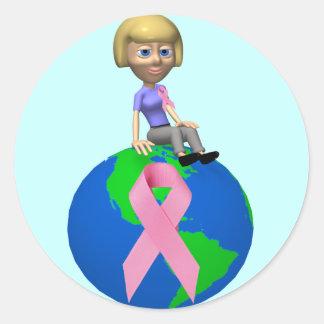 Breast Cancer Awareness Round Sticker