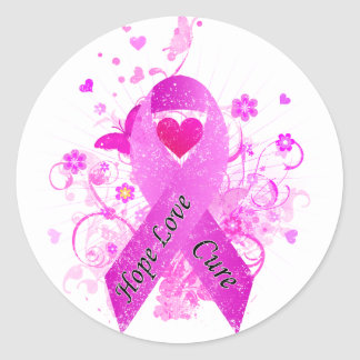 Breast Cancer Awareness Round Stickers