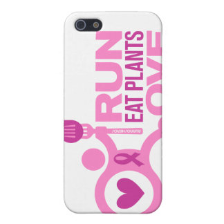 Breast Cancer Awareness - Run+Eat Plants+Love Cover For iPhone SE/5/5s