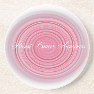 Breast Cancer Awareness Sandstone Coaster