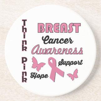 Breast Cancer Awareness Sandstone Coaster