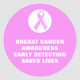 Breast cancer awareness slogan | Personalized Classic Round Sticker