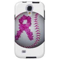 Breast Cancer Awareness Softball Galaxy S4 Case