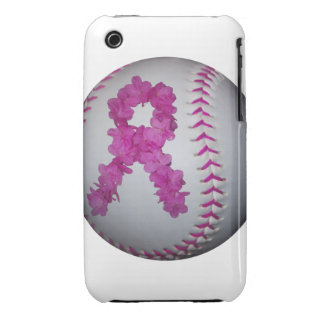 Breast Cancer Awareness Softball iPhone 3 Cases