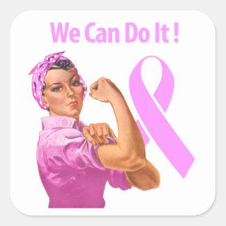 Breast Cancer Awareness Square Sticker