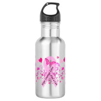 Breast Cancer Awareness Stainless Steel Water Bottle