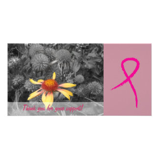 Breast Cancer Awareness Support 3 Photo Card