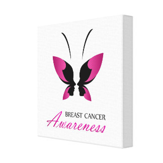 Breast cancer awareness support canvas print