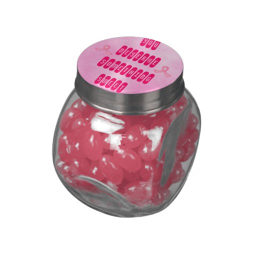 breast cancer awareness sweets jar glass candy jar