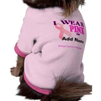 Breast Cancer Awareness Template Pet T Shirt