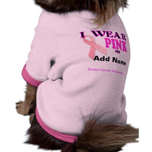 Breast Cancer Awareness Template Pet T Shirt Pet Clothes