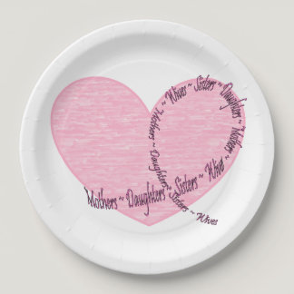 Breast cancer awareness...think pink paper plate