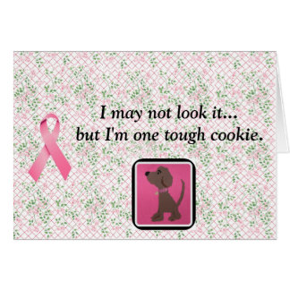 breast cancer awareness/tough cookie note cards