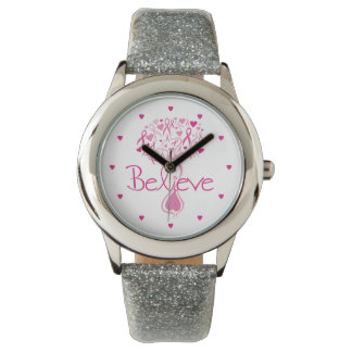 Breast Cancer Awareness Tree Wrist Watch