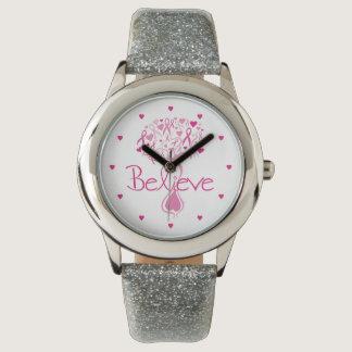 Breast Cancer Awareness Tree Wrist Watch