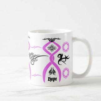 Breast Cancer Awareness Tribal Design Mug