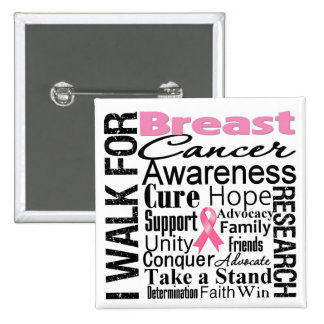 Breast Cancer Awareness Walk Pinback Buttons