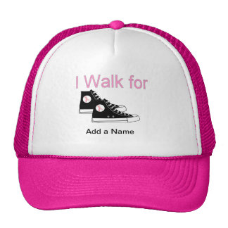 Breast Cancer Awareness Walk Trucker Hat Template
