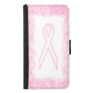 Breast Cancer Awareness Wallet Phone Case For Samsung Galaxy S5