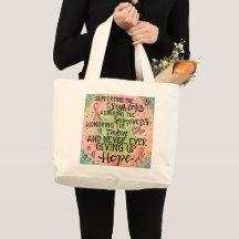 Breast Cancer Survivor Drawstring Bag Awareness Bag Gifts Gift For Mom Cancer Awareness Tote Bag Inspirational Cancer Gift for Survivors