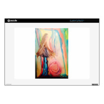 Breast Cancer Awareness watercolor art Decal For Laptop