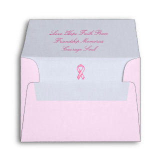 Breast Cancer Awareness With Love Envelope