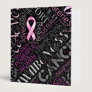 Breast Cancer Awareness Word Cloud ID261 Binder