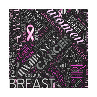 Breast Cancer Awareness Word Cloud ID261 Canvas Print