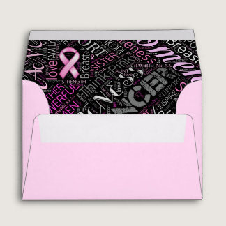 Breast Cancer Awareness Word Cloud ID261 Envelope