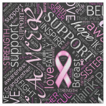 Breast Cancer Awareness Word Cloud ID261 Fabric