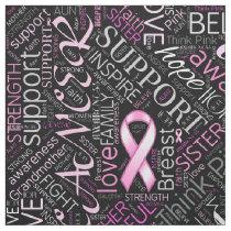 Breast Cancer Awareness Word Cloud ID261 Fabric