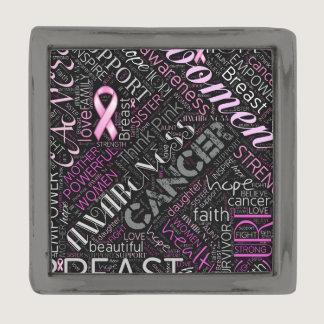 Breast Cancer Awareness Word Cloud ID261 Gunmetal Finish Lapel Pin