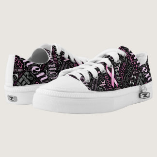 Breast Cancer Awareness Word Cloud ID261 Low-Top Sneakers