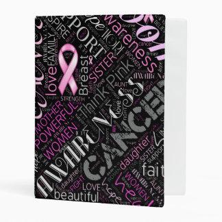 Breast Cancer Awareness Word Cloud ID261 Mini Binder