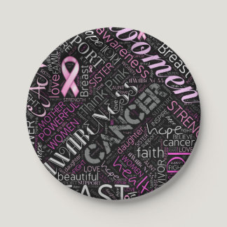 Breast Cancer Awareness Word Cloud ID261 Paper Plate