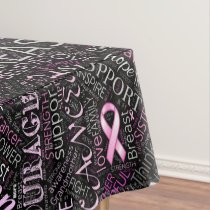 Breast Cancer Awareness Word Cloud ID261 Tablecloth