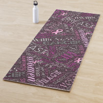 Breast Cancer Awareness Word Cloud ID261 Yoga Mat