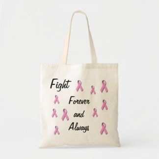 Breast cancer awarness appearal budget tote bag