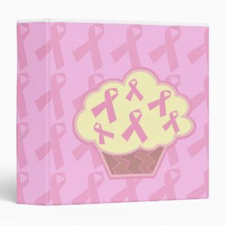 breast cancer awarness cupcake notebook binder