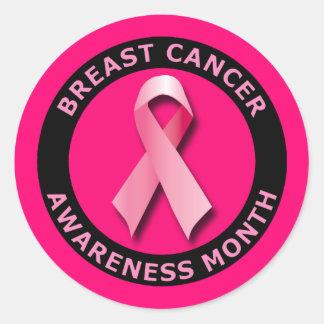 BREAST CANCER AWARNESS MONTH CLASSIC ROUND STICKER