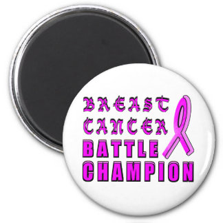 Breast Cancer Battle Champion 2 Inch Round Magnet