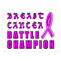Breast Cancer Battle Champion Postcard