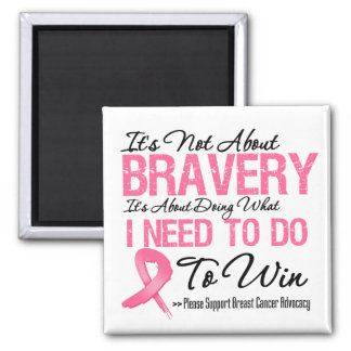 Breast Cancer Battle 2 Inch Square Magnet