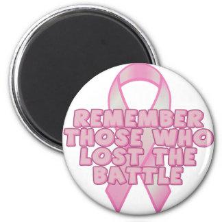 Breast Cancer Battle 2 Inch Round Magnet