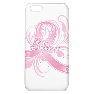 Breast Cancer Believe Flourish Ribbon iPhone 5C Cover