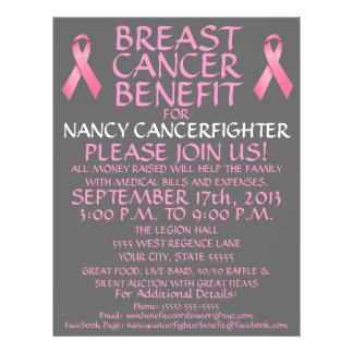 Breast Cancer Benefit Cartoon Flyer