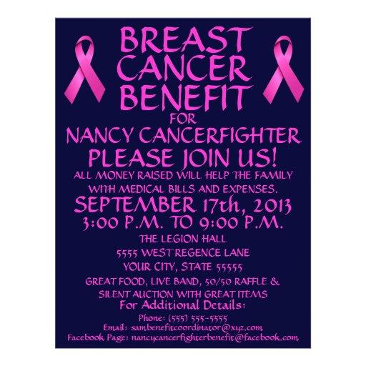cancer benefit flyer template