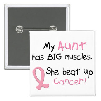 Breast Cancer BIG MUSCLES 1.1 Aunt Button