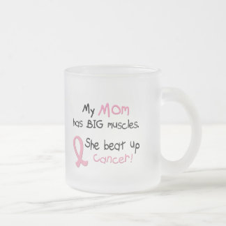 Breast Cancer BIG MUSCLES 1.1 Mom Frosted Glass Coffee Mug